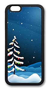 iPhone 6 Plus Case And Cover -Christmas Night TPU Silicone Rubber Case Cover For iPhone 6 Plus 5.5 inch Black