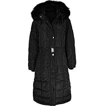 Fashion Thirsty Womens Long Winter Coat Padded Quilted