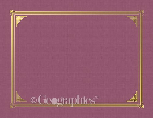 Geographics 45333 Certificate/Document Cover, 12 1/2 x 9 3/4, Burgundy (Pack of 6) (Certificates Covers)