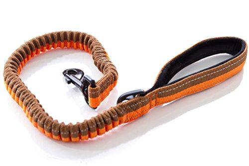 Stretchable Puppy Dog Leash Harness (Orange) - 1