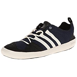 adidas Outdoor Men's Climacool Boat Lace Water Shoe, Colonel Navy/Chalk White/Black, 10.5 M US