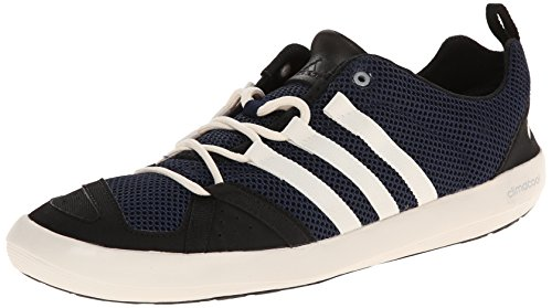 adidas Outdoor Men's Climacool Boat Lace Water Shoe, Colonel Navy/Chalk White/Black, 10 M US