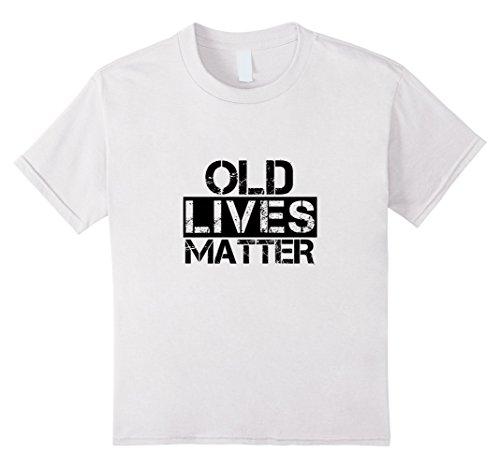 Kids Cute Senior Citizen T-Shirt Old Lives Matter Grandparent Tee 10 White