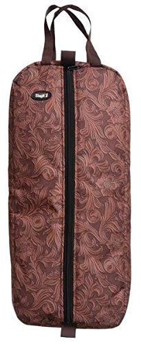 Tough-1 Deluxe Western Headstall Bag Tooled Leathe ()