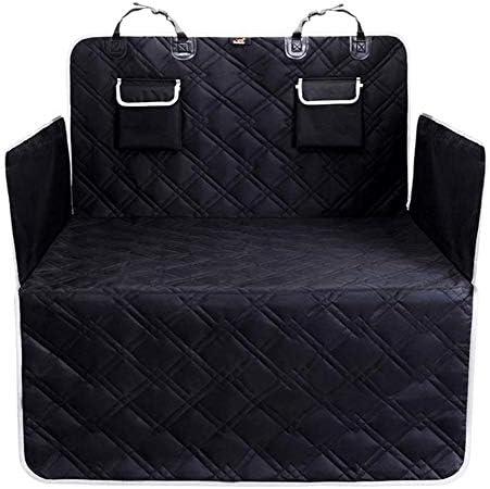 YangYan 車のトランク犬のクッション防水犬のカーシートは、ビューメッシュペットベッド猫犬のキャリアバックパックマットのためにペットの旅のシートカバーをカバー (色 : ブラック, サイズ : 185x103CM)