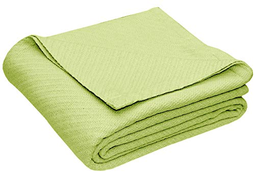 Cotton Craft - 100% Soft Premium Cotton Thermal Blanket - Full/Queen Sage - Snuggle in These Super Soft Cozy Cotton Blankets - Perfect for Layering Any Bed - Provides Comfort and Warmth for Years