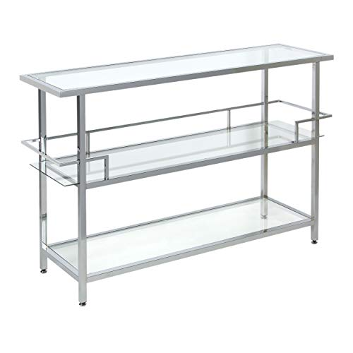Studio Designs Home 71005.0 Portico Bar in Chrome with Clear Glass, 52""