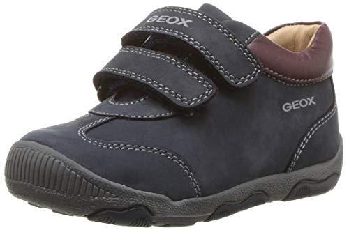 Geox New Balu Boy 15 All Leather Adventure Shoe Sneaker, Navy/Bordeaux, 18 Medium EU Little Kid (3 US) (Geox Boots For Boys)