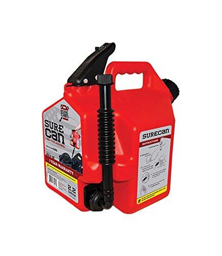 Surecan CRSUR22G1 Gasoline CAN, 2.2 Gallon, Red
