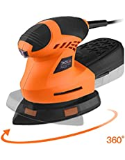 TACKLIFE Detail Sander, 200W, Multi-Sander with 360°Rotating Sanding Base Plate, Efficient Dust Extraction Box, 12000 RPM Mouse Sander Machine, 3Meter Power Cord/PMS02A