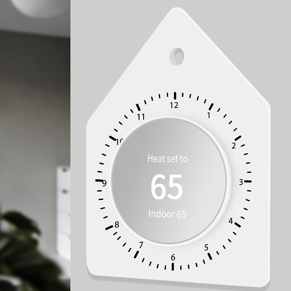 Premium Wall Plate Back Cover Compatiable for Google Nest Thermostat 2020-Perfectly Flush with Wall,Silicone Trim Kit Accessory [Extra Thicken] for Home Nest Programmable WiFi Thermosat-Snow White