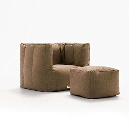 Bean Cube (Big Joe Lux Cube & Ottoman in Union, Pecan)