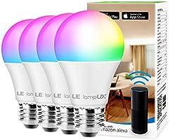 Smart WiFi Light Bulbs, LED Color Changing Lights, Works with Alexa & Google Home, RGBW 2700K-6500K, 60 Watt Equivalent,...