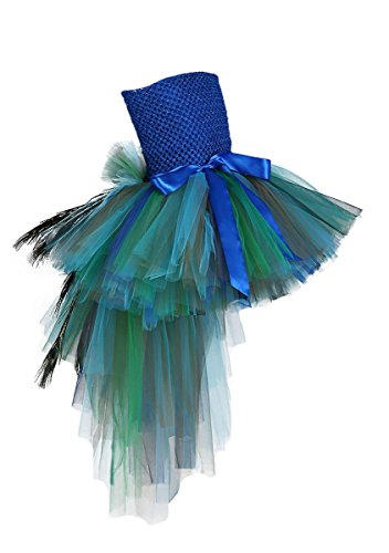 Tutu Dreams Fancy Peacock Costume Large Size 14 (Peacock Girls Costume)
