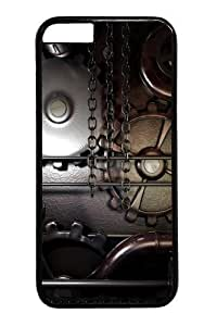Gears machine steampunk Custom For Iphone 6 4.7 Inch Case Cover Polycarbonate Black
