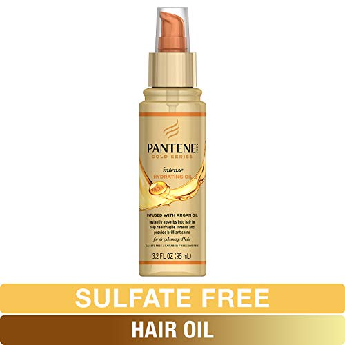 Pantene, Hair Oil Treatment, Sulfate Free, Intense Hydrating, Pro-V Gold Series, for Natural and Curly Textured Hair, 3.2 fl oz