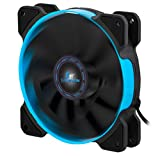 Kingwin 120mm PWM Controlled Performance Silent Fan, For Computer Cases, Long Life Bearing, Quiet Efficient Cooling, Special High Profile Fan Blades For Maximum Air Flow