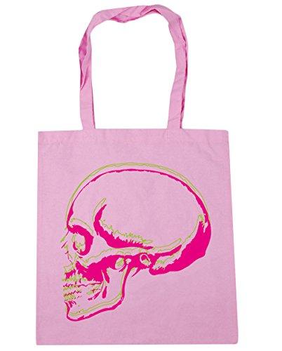 Cráneo Rosa 10 Compra para litros HippoWarehouse Clásico Playa gimnasio capacidad 38cm Bolso Bolsa Asas x 42cm de Skull Con F1n1wCqxd
