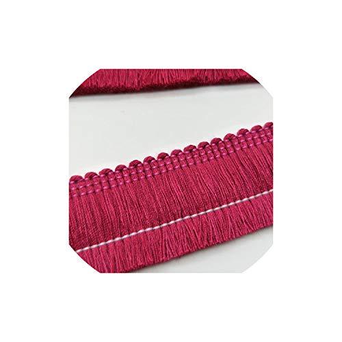(Tassels 1Yards Polyester Lace Tassel Fringe Lace Trim Ribbon Latin Dress Stage Garment Curtain Accessories,Rose)