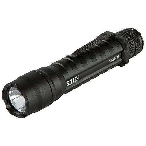 5.11 TMT L2 Tactical Flashlight Military Grade with 320 Lumens, Modes (Steady on, high, Strobe, Low), Aerospace Aluminum, Gold Plated Contacts for Military, Police, EMS, Adventurer - Style# 53032 (Atac Belt Clip)