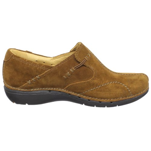 Clarks Dames Un.loop Loafer Cognac Suede