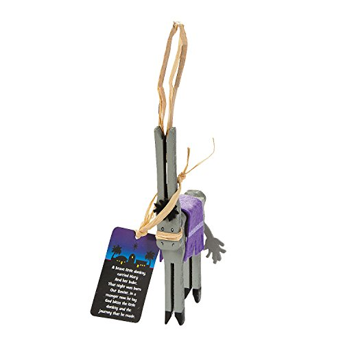 Legend of the Donkey Clothespin Christmas Ornament Craft Kit -