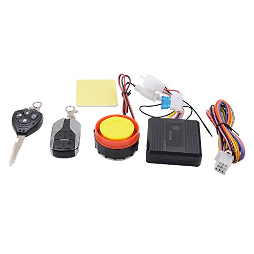 MonkeyJack Set of Universal Motorcycle Motorbike Alarm System Immobiliser Remote Control Security