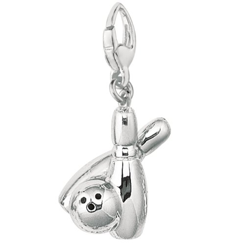 Sterling Silver Bowling Ball (Sterling Silver BOWLING PINS & BALL Charm)