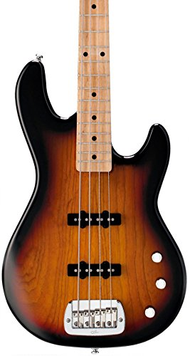 G&L Tribute JB2 4-String Electric Bass 3-Color Sunburst Maple Fretboard by G&L Guitars