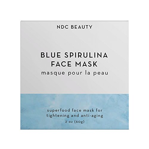 Noix de Coco Organic Superfood Face Mask – Reduces Pores & Acne – Tightening & Hydrating – All Natural, Vegan, Cruelty Free, Non-Toxic (Blue Spirulina)