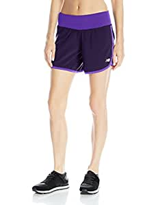 """New Balance Women's Impact 5"""" 2-in-1 Shorts, Abyss, X-Small"""