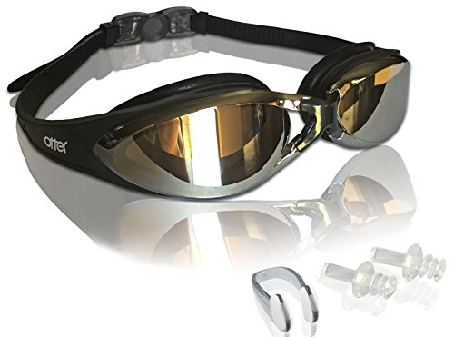 a2c2dcde8f Adult Swim Goggles with FREE Pair of Earplugs and Swim Goggle Protective  Case - Anti-Fog