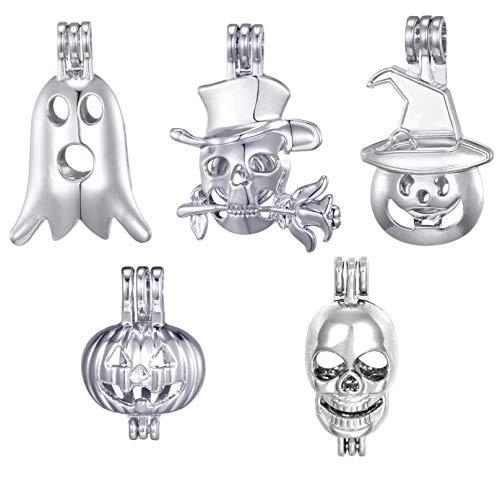10pcs Mix Halloween Pumpkin Skull Ghost Luminous Bead
