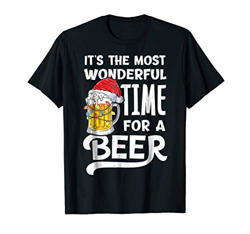 It's The Most Wonderful Time For A Beer Christmas Shirt Men (Team Light Drinking T-shirt)