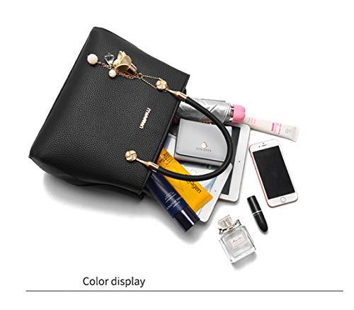 Blue PU In Borsa Borsa Pelle Cosmetici Bag Borsa Borsa Donna Bag Messenger Da Capacità Grande Piccola Tracolla In Borsa Lavoro Pelle Femminile FLHT Shopping Da Borsa Viaggio qXxUU6F