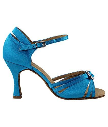Sandali ballo casual blu con cerniera per donna iE2Xd