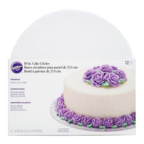 Wilton 10-Inch Cake Circle, 12-Pack Cake Base
