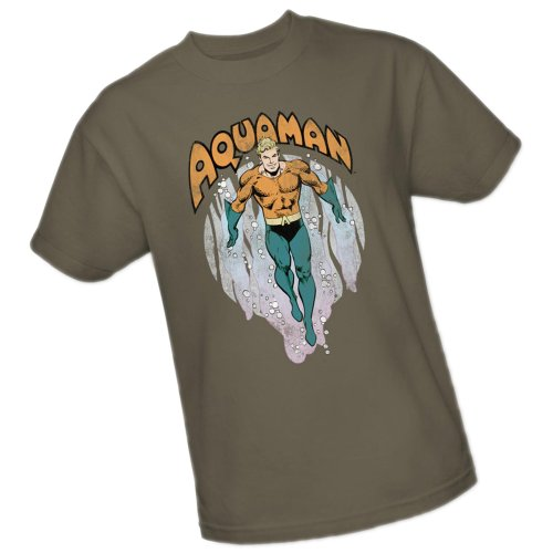 From The Depths -- Aquaman -- DC Comics Adult T-Shirt, Medium