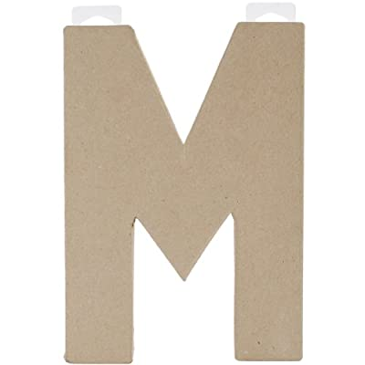 Paper Mache Letter - M - 8 x 5.5 x 1 inches from Darice