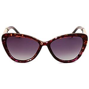 "PRIVÉ REVAUX ICON Collection ""The Hepburn"" Handcrafted Designer Polarized Cat-Eye Sunglasses (Purple Tortoise)"