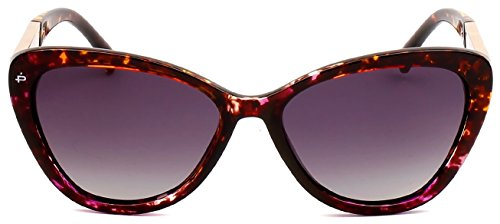 "PRIVÉ REVAUX ICON Collection ""The Hepburn"" Handcrafted Designer Polarized Cat-Eye Sunglasses (Purple - Icon Sunglasses"