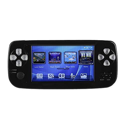 Matoen Handheld Game Console 4.3 16GB 3000 Classic Portable Game Console Pap-KIII (Black)