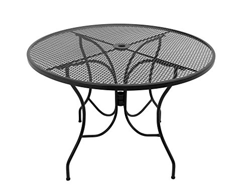 Meadowcraft Arlington House 8243000-0105000 Round Mesh Dining Table, 42″