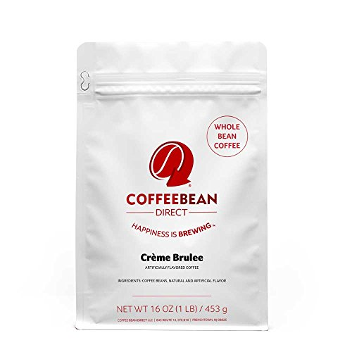 Coffee Bean Direct Creme Brulee Flavored, Whole Bean Coffee, 16-Ounce Bags (Pack of 3) ()