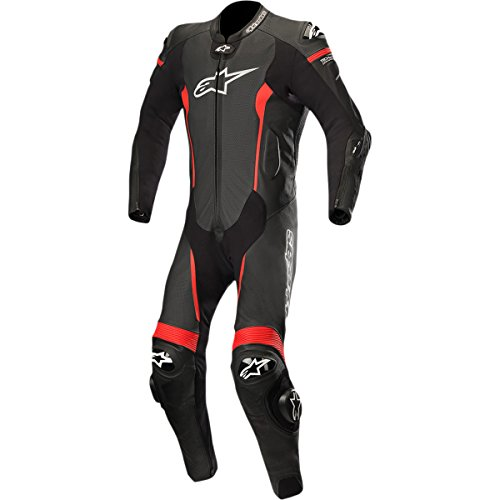 Alpinestars Missile Leather One-Piece Suit (Tech Air Compatible) (54) (Black/Red)