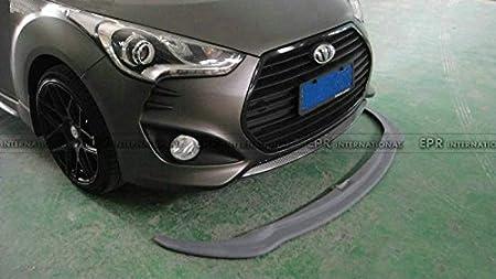 Parachoques delantero de fibra de carbono borde divisor Valance barbilla fondo difusor para Hyundai Veloster Turbo: Amazon.es: Coche y moto
