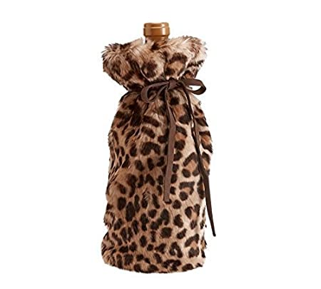535e8b709035 Nicole Miller Luxe Faux-Fur Wine Bag Cheetah Leopard Print  Amazon.co.uk   Kitchen   Home