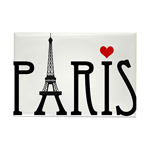 Red Rectangle Magnet (CafePress Love Paris With Eiffel Tower And Red Heart Rectang Rectangle Magnet, 2
