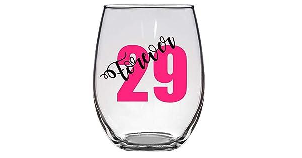 Amazon.com: Forever 29 Copa de vino, 21 onzas, 30 cumpleaños ...