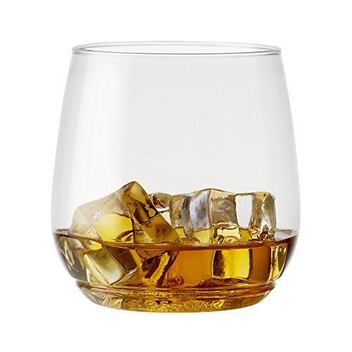 TOSSWARE 12oz Tumbler Jr - recyclable cocktail and whiskey plastic cup - SET OF 48 - stemless, shatterproof and BPA-free whiskey glasses (Glass Tumbler Cocktail)